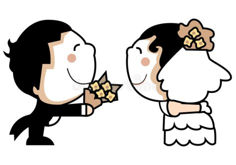 夫妇逗人喜爱的婚礼-6105154