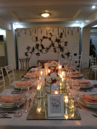 Josiah's VIP setup during our Final food tasting and detailing last Nov 28 at the QC office