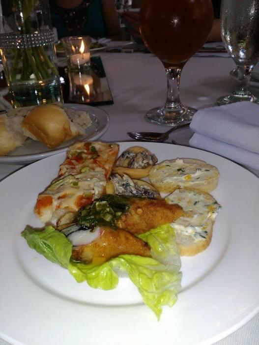 Food served during the food tasting last September 2015