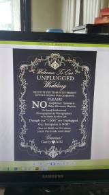 Unplugged banner printed on sintra board and displayed at the entrance of SAC