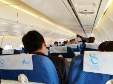 Inside the Bangkok Airways flight from Bangkok to Siem Reap