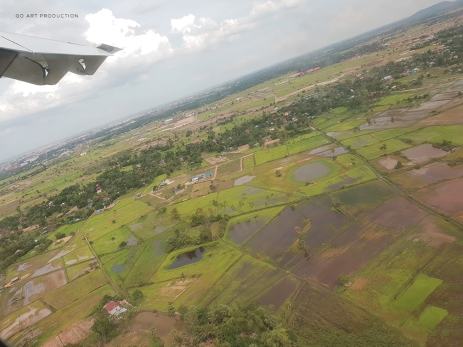 Hello Cambodia! Aerial view from above just before landing.