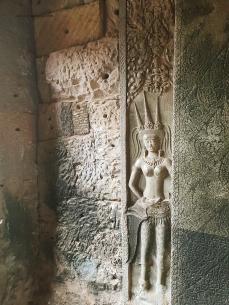 Apsara engraves that decorated the walls of Angkor Wat