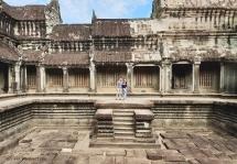 Inside the halls of Angkor Wat