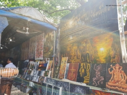 Paintings of Angkor Wat done by local Cambodian artists