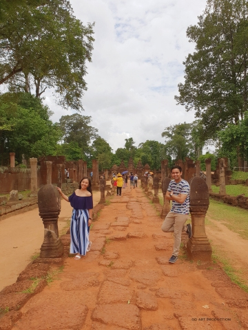 Entrance to Banteay Srei, jewel in the crown of Angkorian art