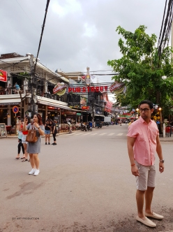 The famous Pub Street of Siem Reap