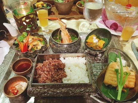 Our complimentary Khmer dinner set